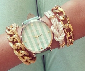 bracelets, stripes, and chains image