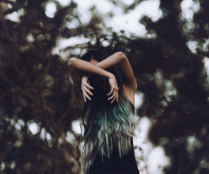 girl, grunge, and forest image