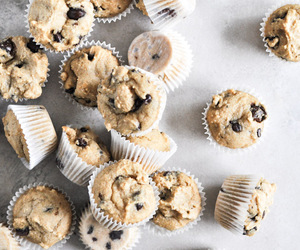 muffins, chocoloate, and yum image