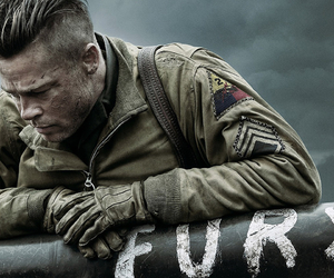brad pitt, fury, and war image