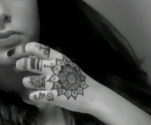 girl, hand, and tatto image