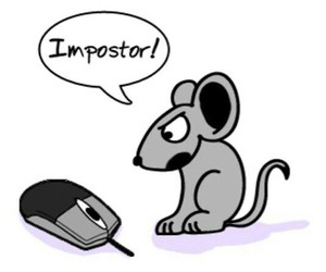 mouse, funny, and imposter image