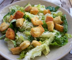 healthy, salad, and caesar salad image