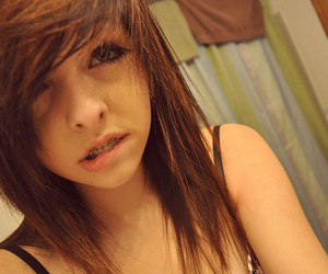 girl, hair, and braces image