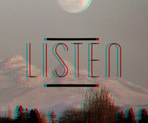listen, wallpaper, and moon image