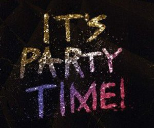 party, glitter, and quote image