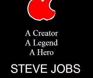 apple, ipod, and Steve Jobs image