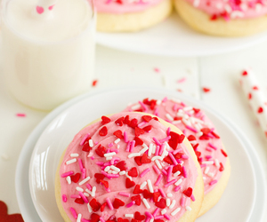 dessert, pink, and Cookies image