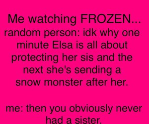 frozen, sisters, and funny image