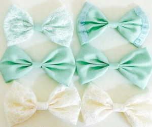 bow, white, and mint image