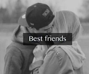 love, kiss, and best friends image