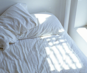 bed, white, and grunge image