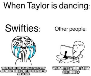 Taylor Swift, funny, and swiftie image