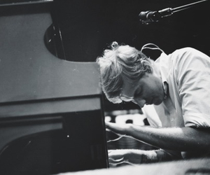 andrew mcmahon, black and white, and piano image