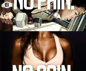 fitness, no pain no gain, and motivation image