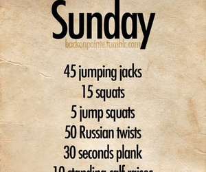 workout, Sunday, and fitness image