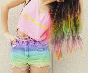 clothes, fashion, and rainbow image