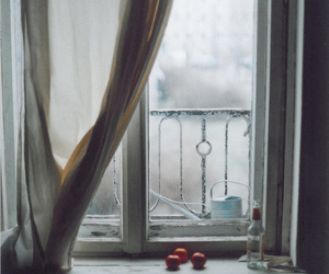 window, winter, and apple image