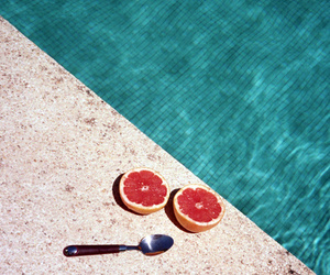 pool, summer, and fruit image