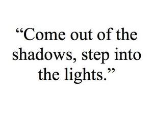 light, shadow, and quote image