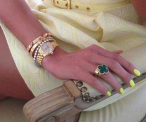 designer, green, and jewelry image