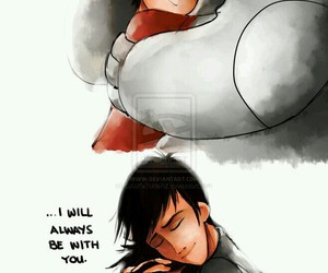 hiro, baymax, and big hero 6 image