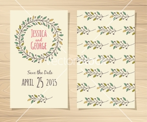 invitation, nature, and save the date image