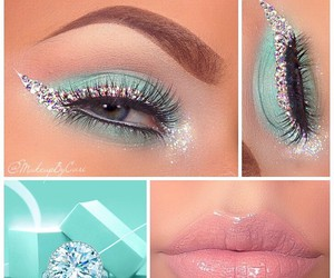 makeup, tiffany, and blue image