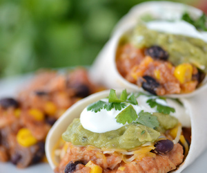 burritos, cheesy, and dinner image