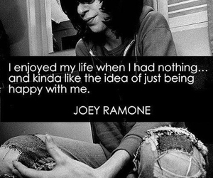 ramones, joey ramone, and quote image