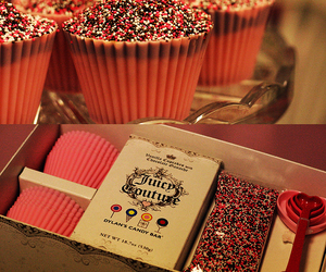 cupcake, juicy couture, and food image