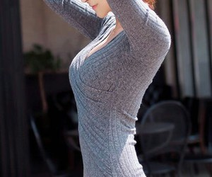 dress, perfect, and grey image