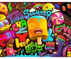 summer, crazy, and candy image