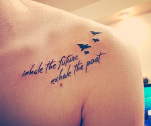 birds, tattoo, and quote image