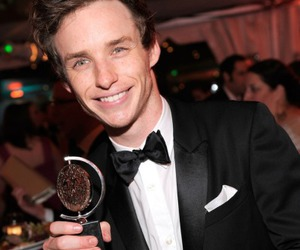 eddie redmayne and golden globes 2015 image