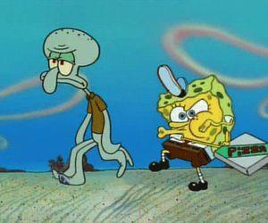 pizza, spongebob, and bob esponja image
