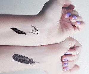 feather, pretty, and Sharpie image