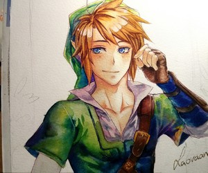 link, drawing, and game image