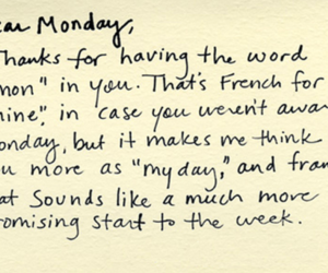 monday, ;3, and text image