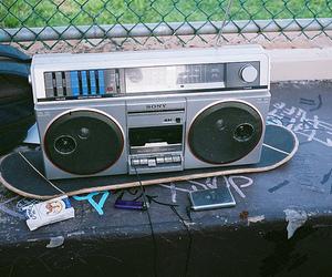 radio, skate, and skateboard image