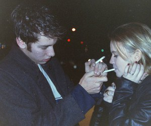 grunge, couple, and cigarette image