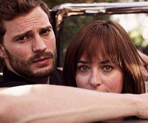 fifty shades of grey, dakota johnson, and Jamie Dornan image