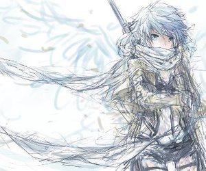 anime, sao, and sinon image