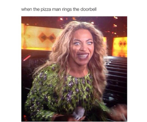 funny, pizza, and beyoncé image