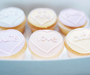 cupcake, food, and love image