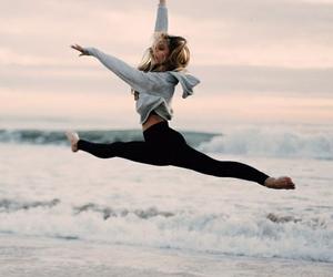dance, beach, and sea image