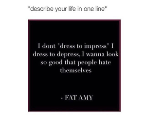 dress, funny, and fat amy image