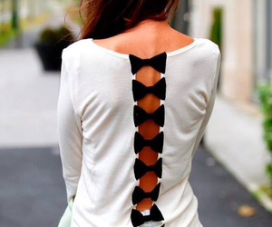 fashion, bow, and white image