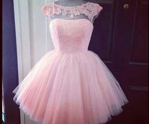 dress, pink, and fancy image