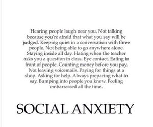 scared, questions, and social anxiety image